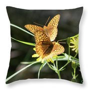 2 Butter Flies Throw Pillow