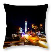 Ca Vegas Throw Pillow