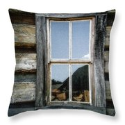 Cabin Window Throw Pillow