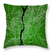 Cairo Street Map - Cairo Egypt Road Map Art On Colored Backgroun Throw Pillow