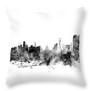 Calcutta Kolkata India Skyline Throw Pillow