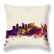 Calgary Canada Skyline Throw Pillow