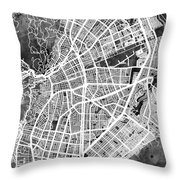Cali Colombia City Map Throw Pillow