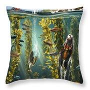 California Kelp Forest Throw Pillow