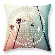 California Palms I Throw Pillow