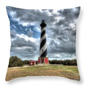 Cape Hatteras Lighthouse, Buxton, North Carolina Throw Pillow