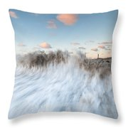 Cape Hatteras Lighthouse Outer Banks Throw Pillow