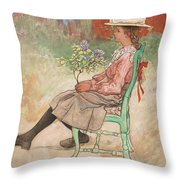 Carl Larsson, Dagmar Grill Throw Pillow