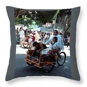 Carnival Cart Throw Pillow