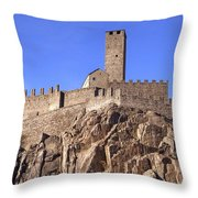 Castelgrande - Bellinzona Throw Pillow