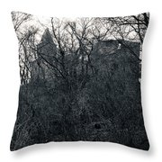 Castle Frankenstein Throw Pillow