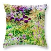 Castle Gardens Throw Pillow