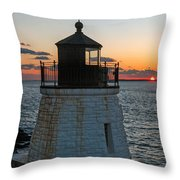 Castle Hill Light Newport Rhode Island Throw Pillow