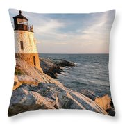 Castle Hill Lighthouse, Newport, Rhode Island Throw Pillow