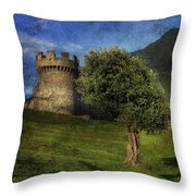 Castle Throw Pillow by Joana Kruse