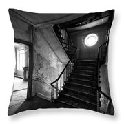Castle Stairs - Abandoned Building Throw Pillow