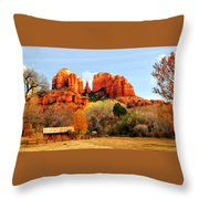Cathedral Rock Throw Pillow by Howard Bagley