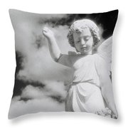 Cemetery Angel. Throw Pillow