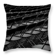 Chair Pattern Empty Seats Throw Pillow