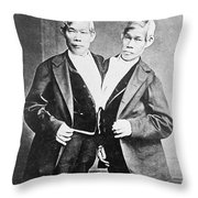 Chang And Eng, Siamese Twins Throw Pillow