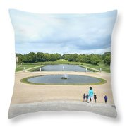 Chantilly Castle Garden In France Throw Pillow