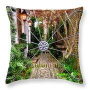 Charleston Gated Garden Throw Pillow