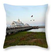 Charleston Waterfront Park During Sunset Throw Pillow