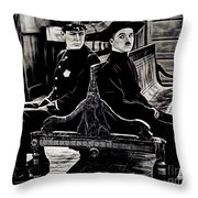 Charlie Chaplin Collection Throw Pillow