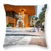 Charlotte North Carolina Street Scenes Early Morning Throw Pillow