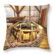 Chesapeake Bay Workboat Throw Pillow