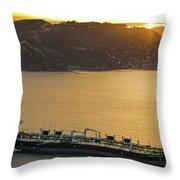 Chevron Pegasus Voyager Oil Tanker Throw Pillow