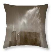 Chicago - Buckingham Fountain Throw Pillow