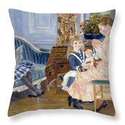 Children's Afternoon At Wargemont Throw Pillow