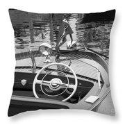 1950's Sportsman Throw Pillow