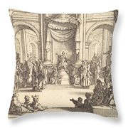 Christ Disputing With The Doctors Throw Pillow