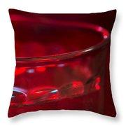 Christmas Theme Glass Of Water Throw Pillow