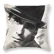 Christopher Lee, Vintage Actor Throw Pillow