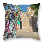 Church Of Profitis Elias - Cyprus Throw Pillow