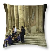 Church Step Lovers Throw Pillow