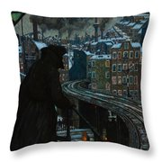 City Of Workers Throw Pillow