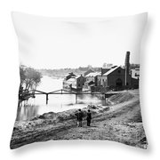 Civil War: Fall Of Richmond Throw Pillow
