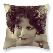 Clara Bow, Vintage Actress Throw Pillow