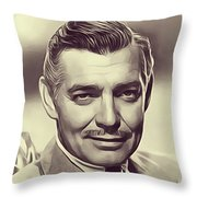 Clark Gable, Vintage Actor Throw Pillow