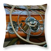 Classic Runabout Throw Pillow