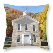 Clayton School Throw Pillow
