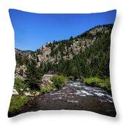 Clear Creek Canyon Throw Pillow