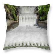 Cleveland Dam Throw Pillow