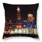 Cleveland Panorama Throw Pillow