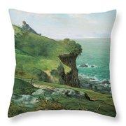 Cliffs Of Greville Throw Pillow