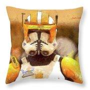 Clone Trooper Commander Throw Pillow